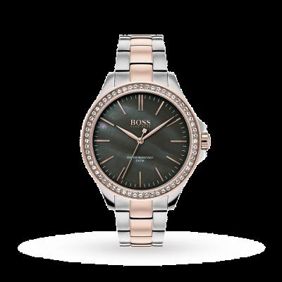 Boss | bracelete de aço inoxidável de dois tons para mulher | 1502452