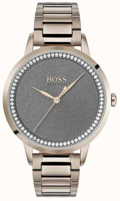 BOSS | relógio crepúsculo das mulheres | aço inoxidável mostrador cinza | 1502463