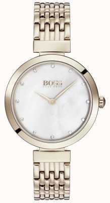 Hugo Boss | senhoras pálida rosa pulseira de metal ouro | 1502480