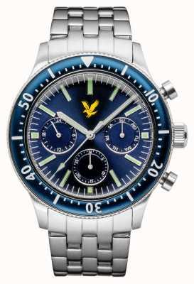 Lyle & Scott Mens jacklin pulseira de aço inoxidável mostrador azul LS-6009-22
