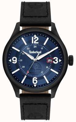 Timberland | mens blake | pulseira de couro preto | mostrador azul | 14645JSU/03