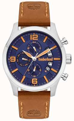 Timberland | mens blake | pulseira de couro tan | mostrador azul | 15633JS/03