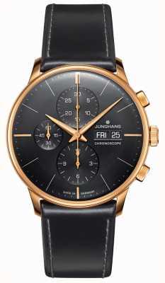 Junghans Cronoscópio Meister | pulseira de couro preto | 027/7923.01
