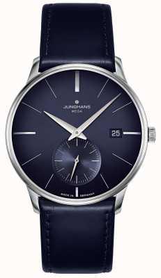 Junghans Meister mega pequeno segundo | pulseira de couro azul | 058/4901.00