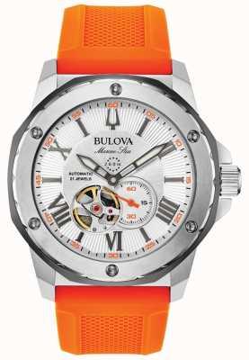 Bulova | de homem | estrela marinha | automático | pulseira de borracha laranja | 98A226