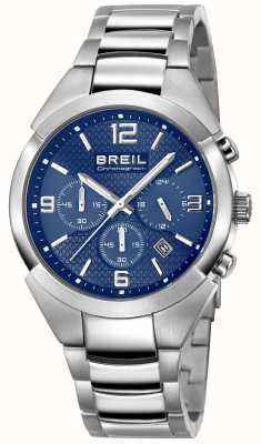 Breil | pulseira de aço inoxidável para homem | mostrador azul | TW1328