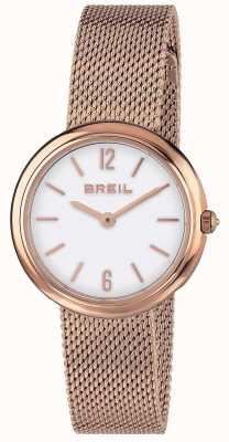 Breil | senhoras íris rosa pulseira de malha de ouro | TW1778