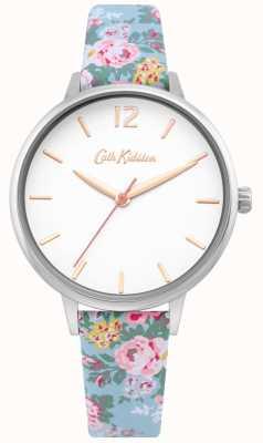 Cath Kidston | senhoras luz pulseira floral azul | mostrador branco | CKL067U