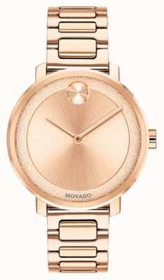 Movado Ousado | rosa banhado a ouro relógio | 3600503