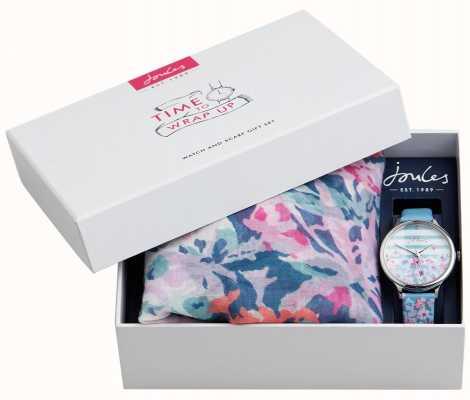 Joules | relógio de mulher e cachecol gift set | JSL015USSET