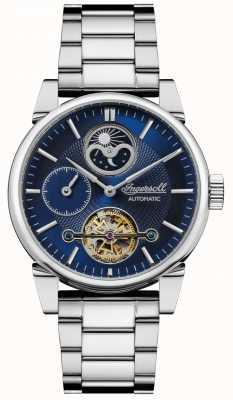 Ingersoll | mens o balanço | pulseira de aço inoxidável | mostrador azul | I07501