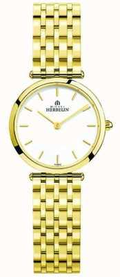 Michel Herbelin Relógio de pulso de aço inoxidável epsilon feminino 17116/BP11