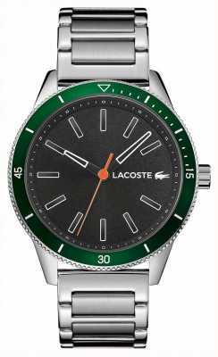 Lacoste | mens key west | pulseira de aço inoxidável | mostrador cinza | 2011009