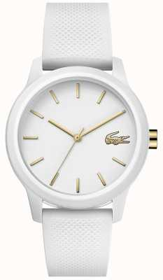 Lacoste 12.12 mulheres | pulseira de silicone branco | mostrador branco | 2001063