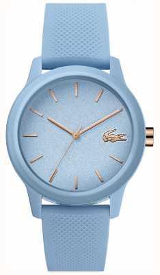 Lacoste | mulheres 12-12 | pulseira de silicone azul | mostrador azul | 2001066