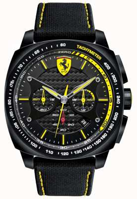 Scuderia Ferrari | mens aero evo | alça de material preto | mostrador preto | 0830615