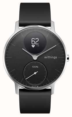 Withings Correia de silicone preta de aço 36 mm HWA03B-36BLACK-ALL-INTER