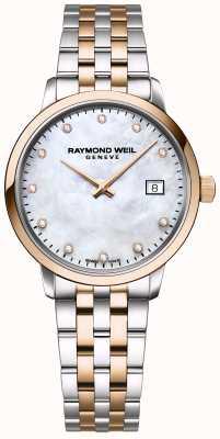 Raymond Weil | diamante toccata para mulher | aço inoxidável de dois tons | 5985-SP5-97081