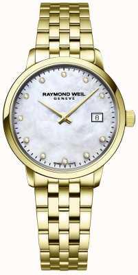 Raymond Weil | diamante toccata para mulher | pulseira de aço inoxidável ouro | 5985-P-97081