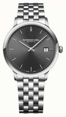 Raymond Weil | mens toccata | pulseira de aço inoxidável | mostrador cinza | 5485-ST-60001