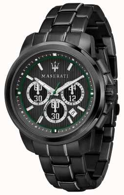 Maserati Royale cronógrafo preto discagem pvd preto chapeado aço R8873637004