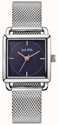 Jack Wills | senhoras de aço malha relógio loring | mostrador azul | JW016NVSL