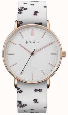 Jack Wills | senhoras sandhill silício branco | mostrador branco | JW018FLWH