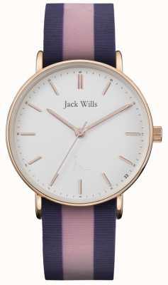 Jack Wills | senhoras sandhill pulseira de silicone twotone | mostrador branco | JW018PKBL