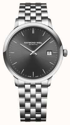 Raymond Weil | gents toccata pulseira de aço inoxidável | mostrador preto | 5485-ST-20001