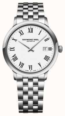Raymond Weil | pulseira em aço inoxidável toccata para homem | mostrador branco | 5485-ST-00300