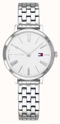 Tommy Hilfiger | pulseira de aço inoxidável para mulher | mostrador branco | 1782056
