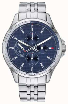 Tommy Hilfiger | pulseira de aço inoxidável mens | mostrador azul | cronógrafo | 1791612