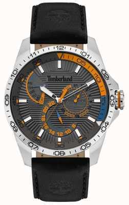 Timberland | relógio oakham para homem | pulseira de couro preto | mostrador cinza | 15641JS/13