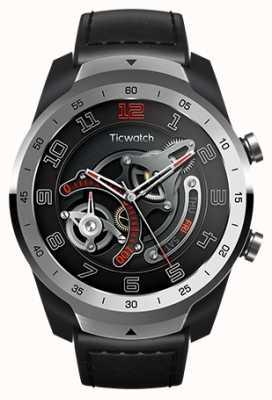 TicWatch Pro   smartwatch de prata de metal líquido WF12096-SILV