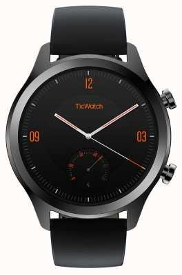 TicWatch C2 | smartwatch de ônix | pulseira de couro preto 130688-WG12036-ONYX