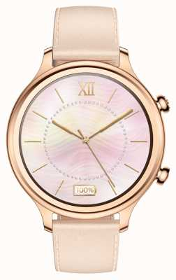 TicWatch C2 | rosa de ouro smartwatch | pulseira de couro 131584-WG12056-RG