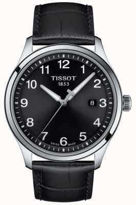 Tissot | mens xl | mostrador preto | pulseira de couro preto | T1164101605700