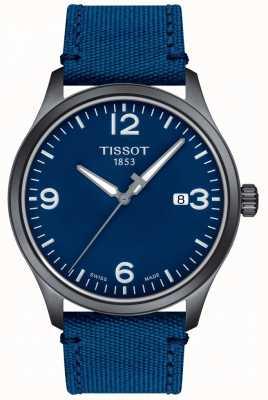 Tissot | mens xl | mostrador azul | pulseira sintética azul | T1164103704700