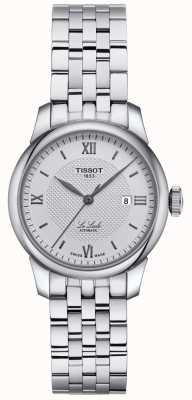 Tissot | mulheres le locle | pulseira de aço inoxidável | mostrador prateado | T0062071103800