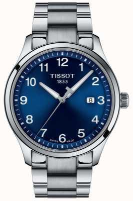 Tissot | mens xl | mostrador azul | pulseira de aço inoxidável | T1164101104700