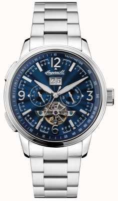 Ingersoll Mens regent automático pulseira de aço inoxidável mostrador azul I00305