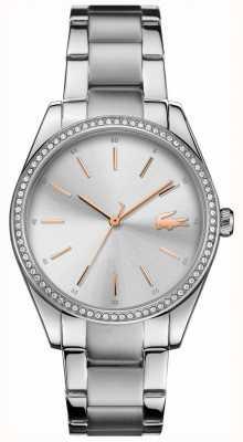 Lacoste Dial de prata pulseira de aço inoxidável das mulheres parisienne 2001083
