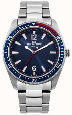 Ben Sherman | mens ronnie diver assistir | mostrador azul sunray | WB037USM