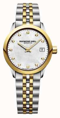 Raymond Weil Aço inoxidável do diamante do freelancer de duas mulheres 5626-STP-97081