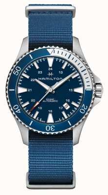 Hamilton | khaki navy scuba automatic | pulseira de tecido azul | mostrador azul H82345941