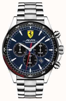 Scuderia Ferrari | pilota dos homens | pulseira de aço inoxidável | mostrador azul | 0830598