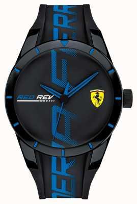 Scuderia Ferrari | redrev dos homens | pulseira de silicone blackblue | mostrador preto | 0830616