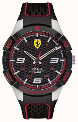 Scuderia Ferrari | ápice dos homens | pulseira de borracha preta | blackred dial | 0830630