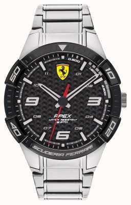 Scuderia Ferrari | ápice dos homens | pulseira de aço inoxidável | mostrador preto | 0830641