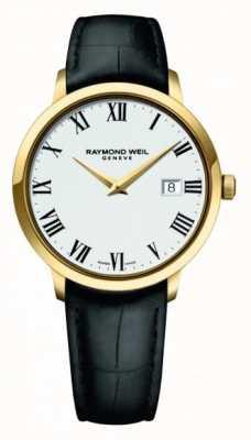 Raymond Weil | mens toccata | caso de ouro clássico pvd mostrador branco | 5485-PC-00300
